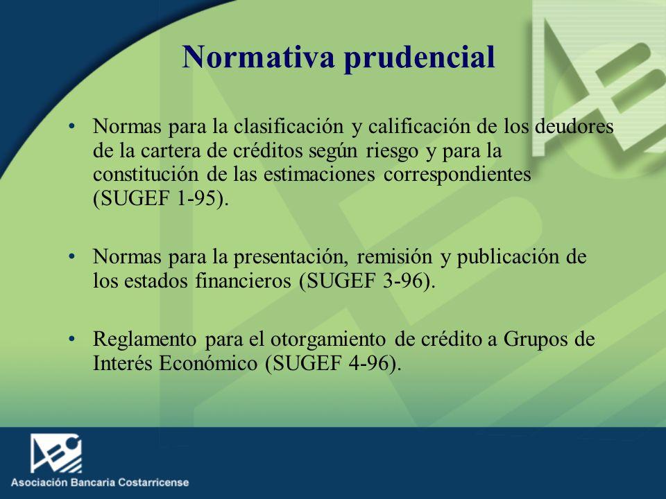 Normativa prudencial