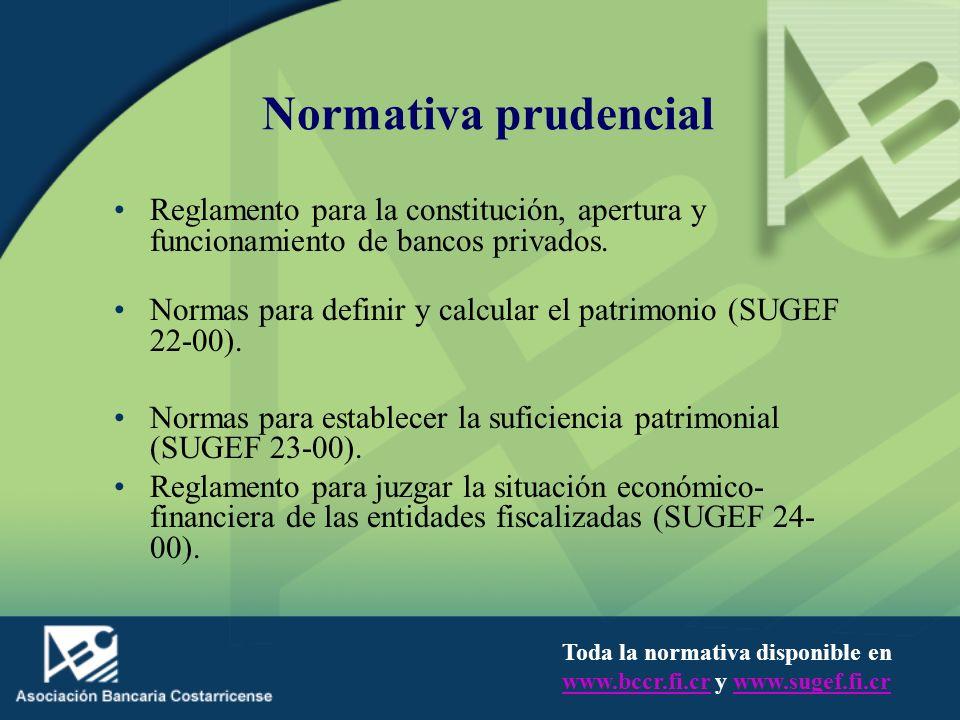 Normativa prudencial Reglamento para la constitución, apertura y funcionamiento de bancos privados.