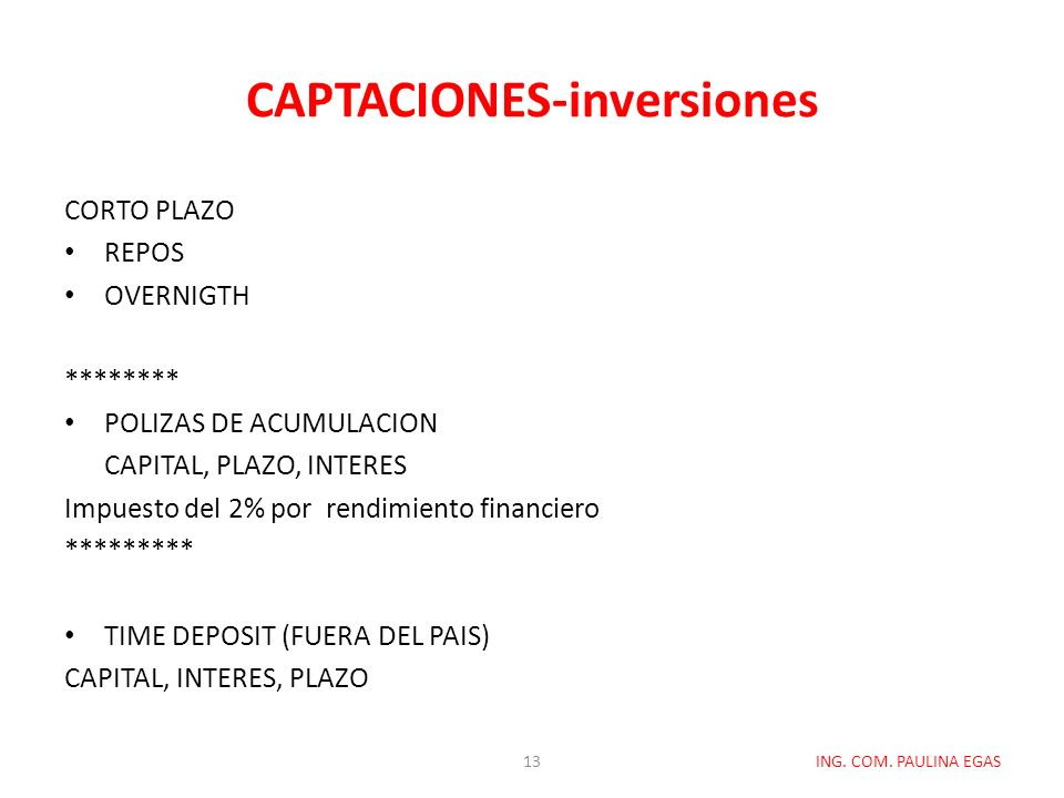 CAPTACIONES-inversiones