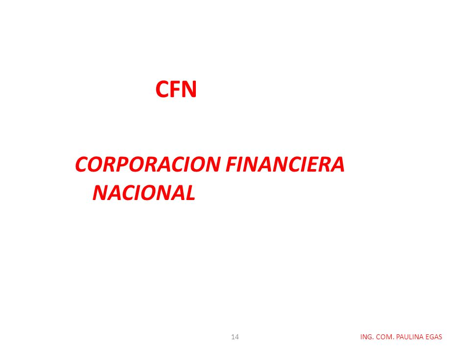CORPORACION FINANCIERA NACIONAL