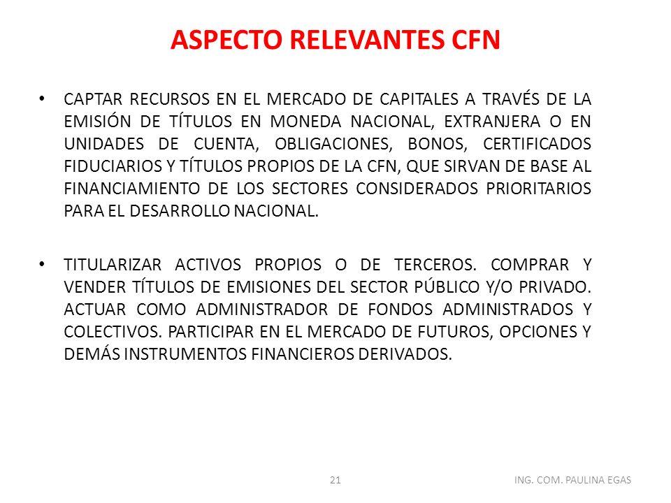 ASPECTO RELEVANTES CFN