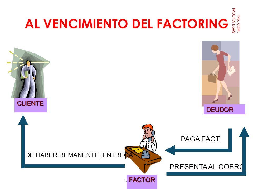 AL VENCIMIENTO DEL FACTORING