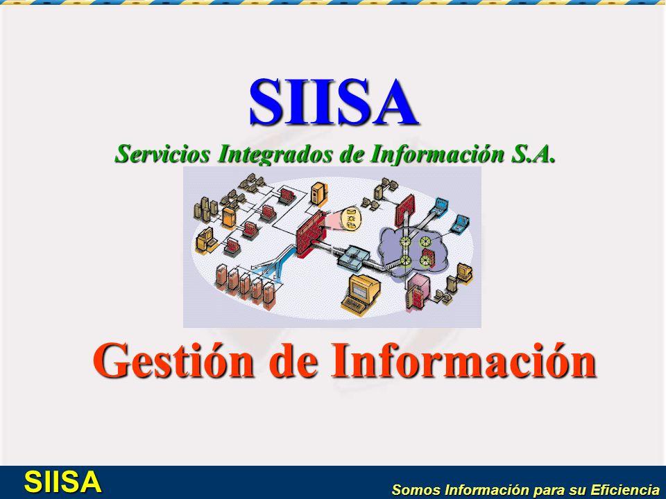 Servicios Integrados de Información S.A. Gestión de Información
