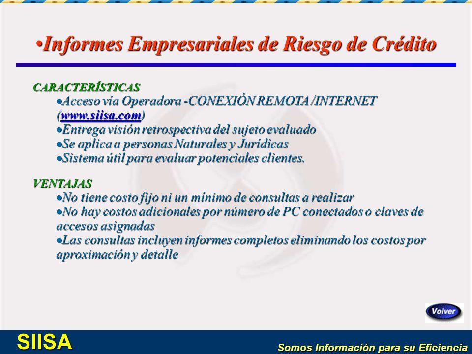Informes Empresariales de Riesgo de Crédito