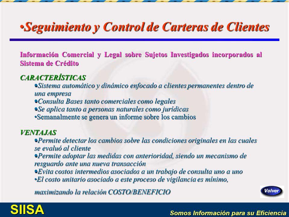 Seguimiento y Control de Carteras de Clientes