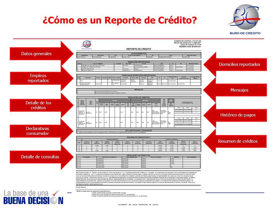 ¿Cómo es un Reporte de Crédito