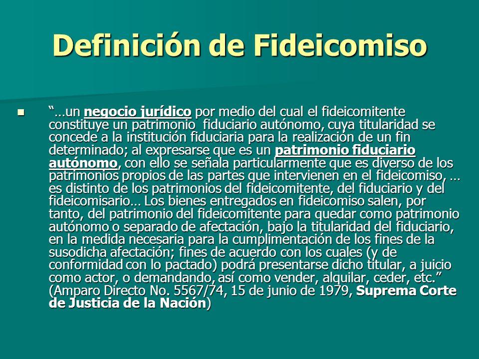 Definición de Fideicomiso