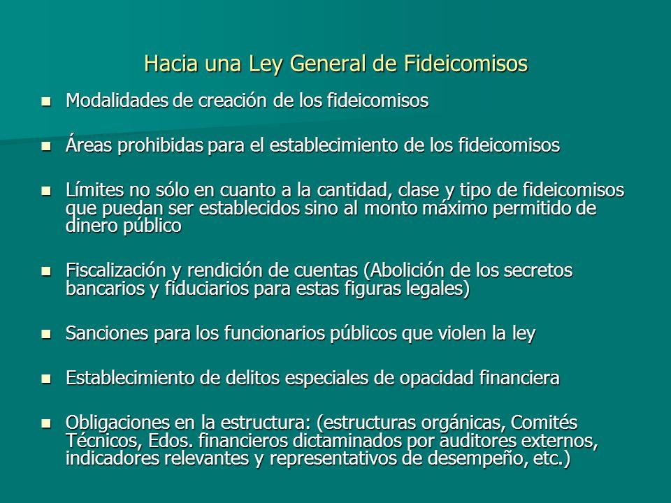 Hacia una Ley General de Fideicomisos