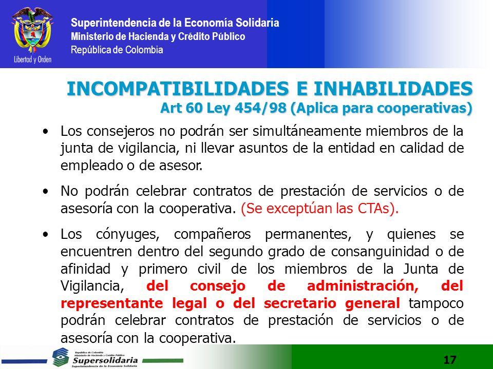 INCOMPATIBILIDADES E INHABILIDADES