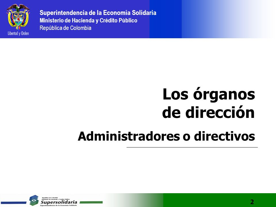 Los órganos de dirección Administradores o directivos