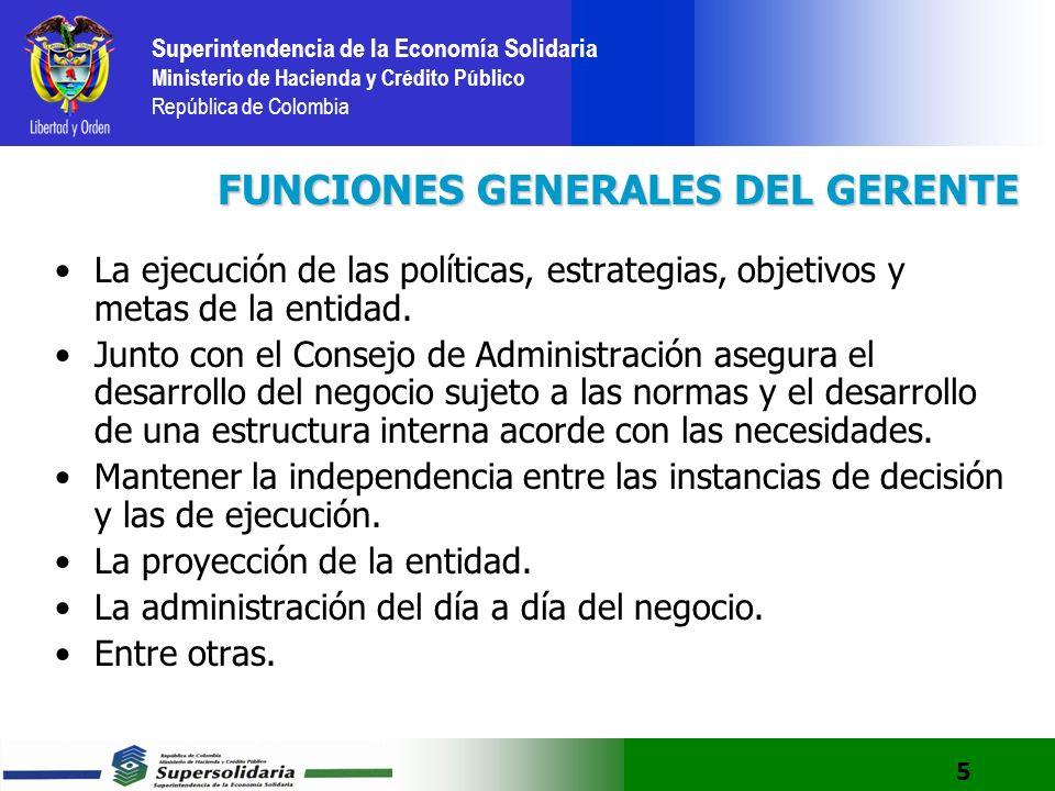 FUNCIONES GENERALES DEL GERENTE