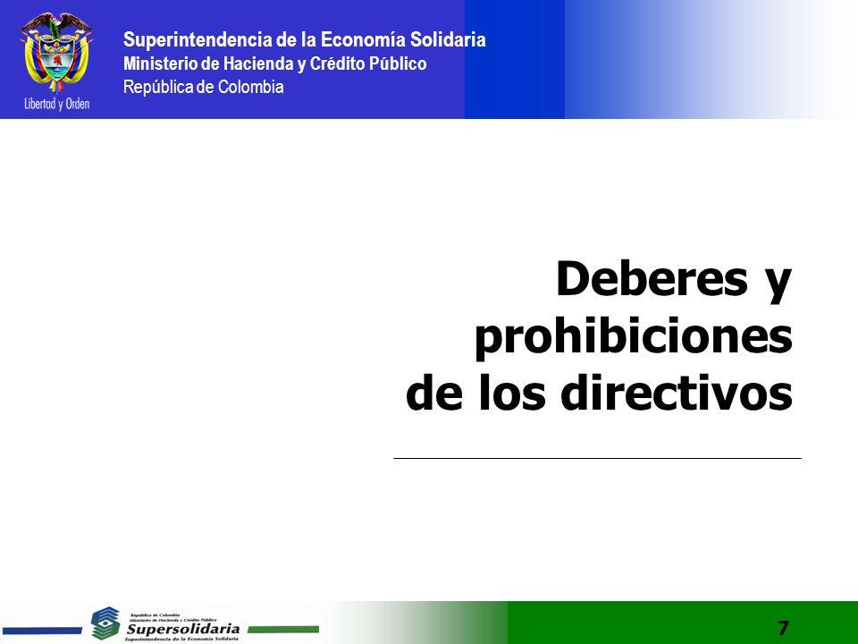 Deberes y prohibiciones de los directivos