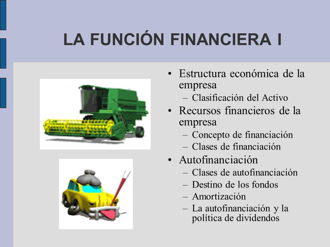 LA FUNCIÓN FINANCIERA I