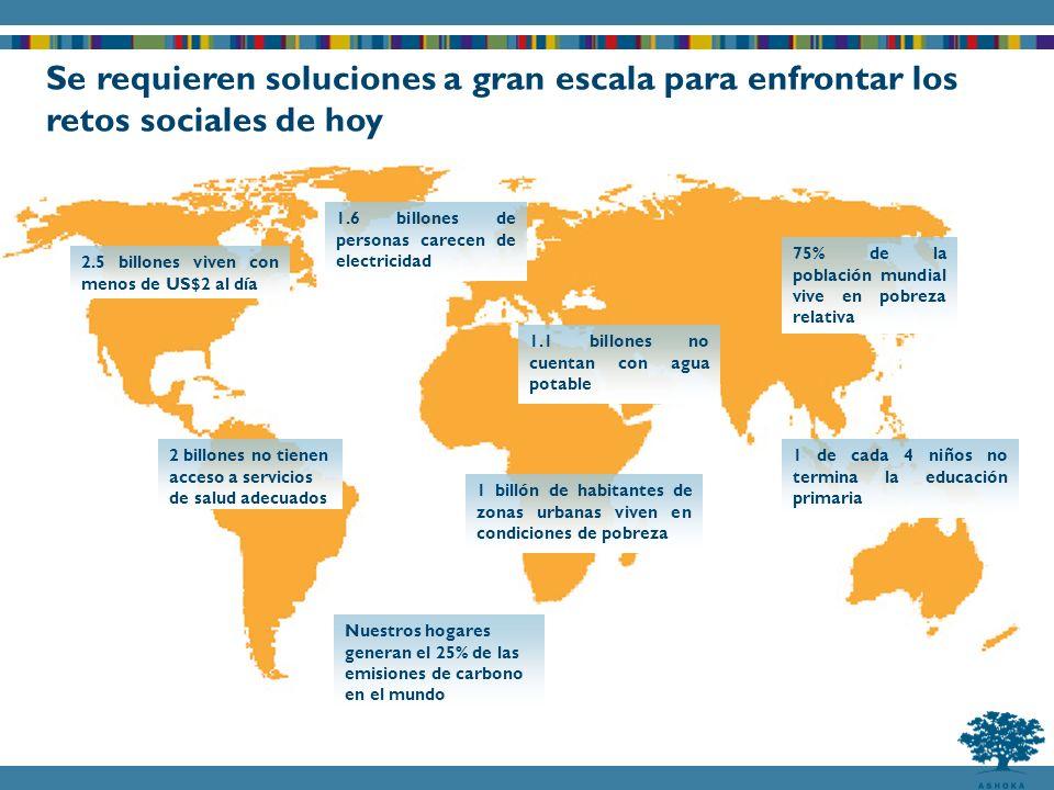 Se requieren soluciones a gran escala para enfrontar los retos sociales de hoy