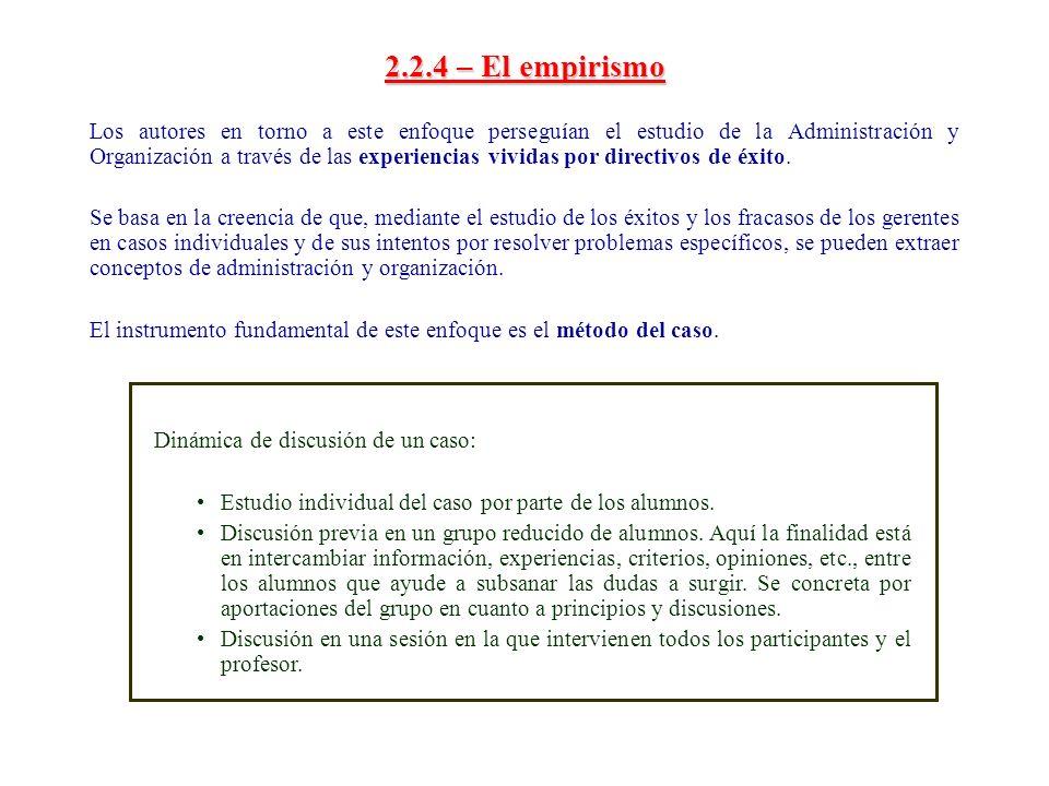 2.2.4 – El empirismo