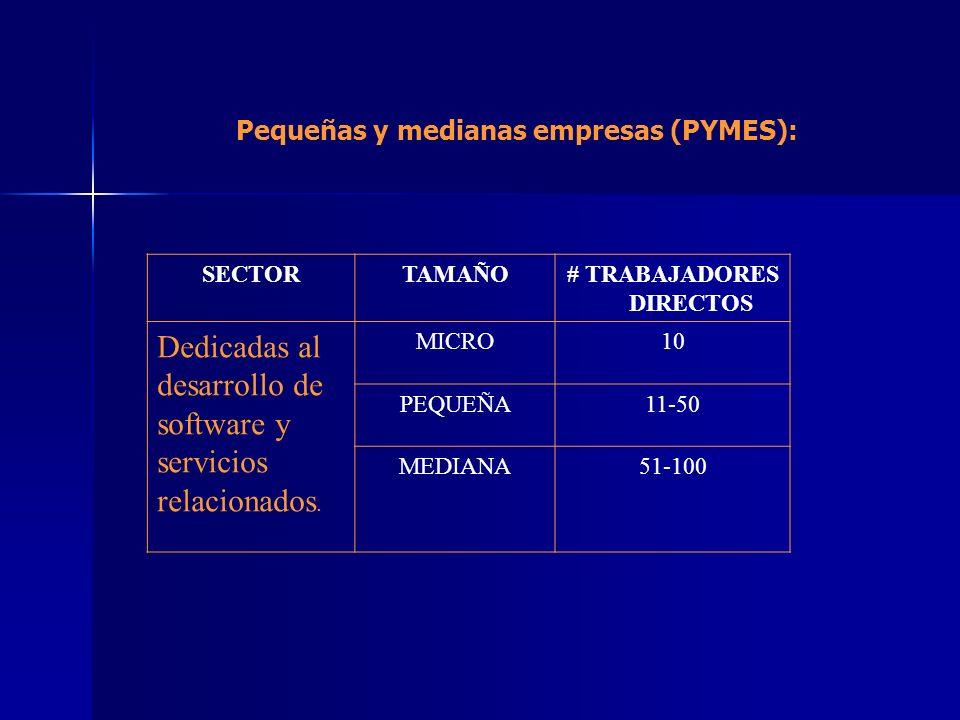 Pequeñas y medianas empresas (PYMES): # TRABAJADORES DIRECTOS