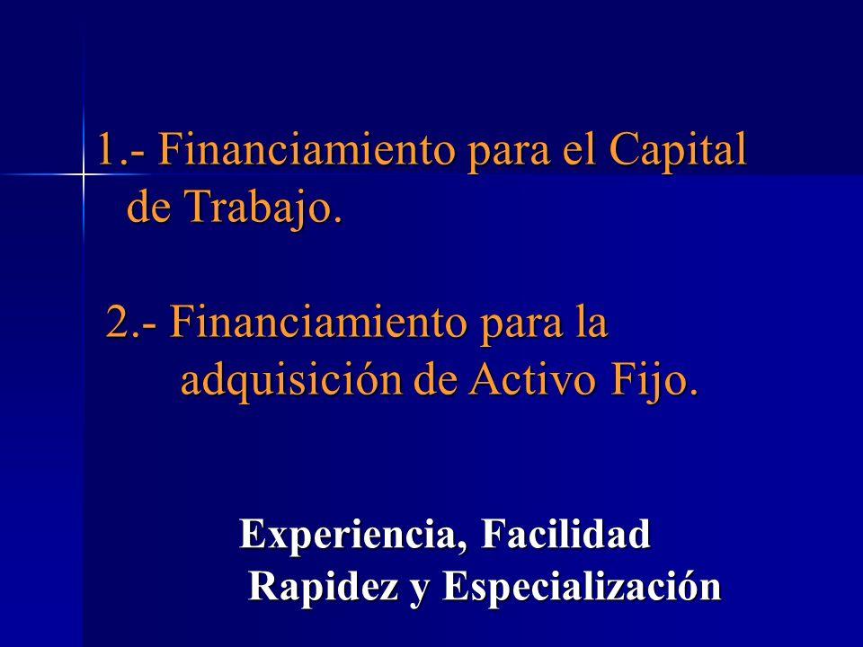 Experiencia, Facilidad Rapidez y Especialización