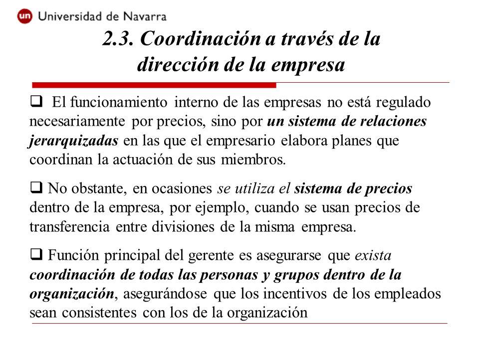 2.3. Coordinación a través de la dirección de la empresa