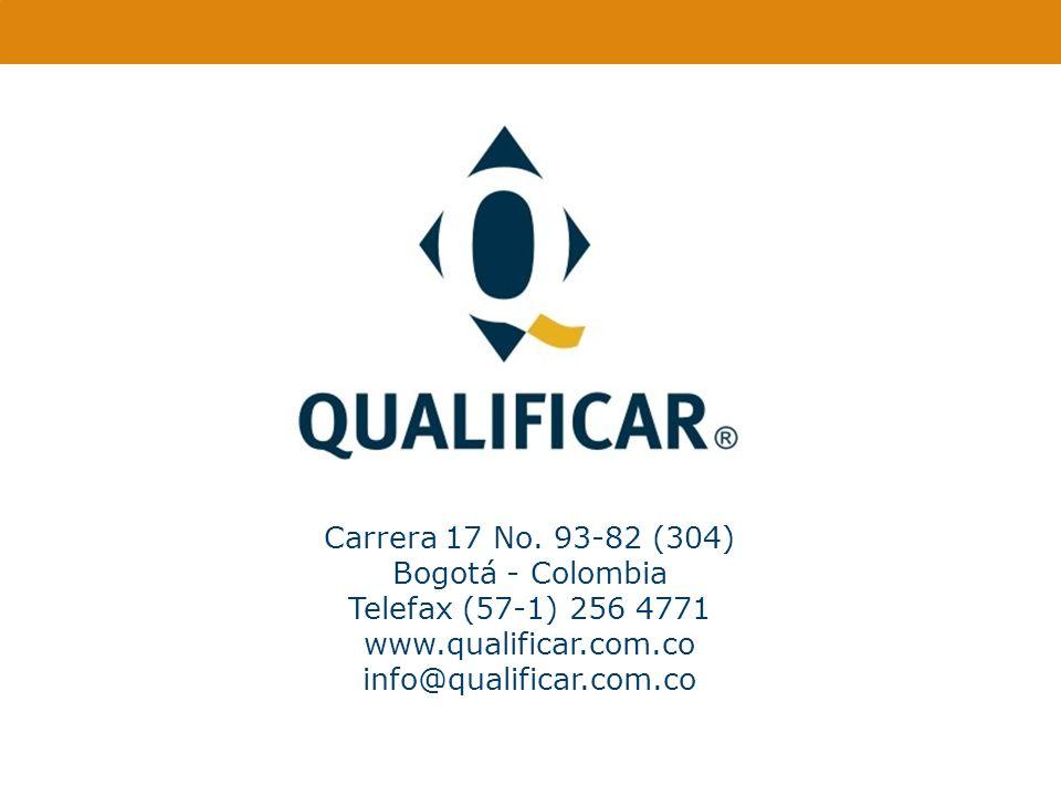 Carrera 17 No. 93-82 (304) Bogotá - Colombia. Telefax (57-1) 256 4771.
