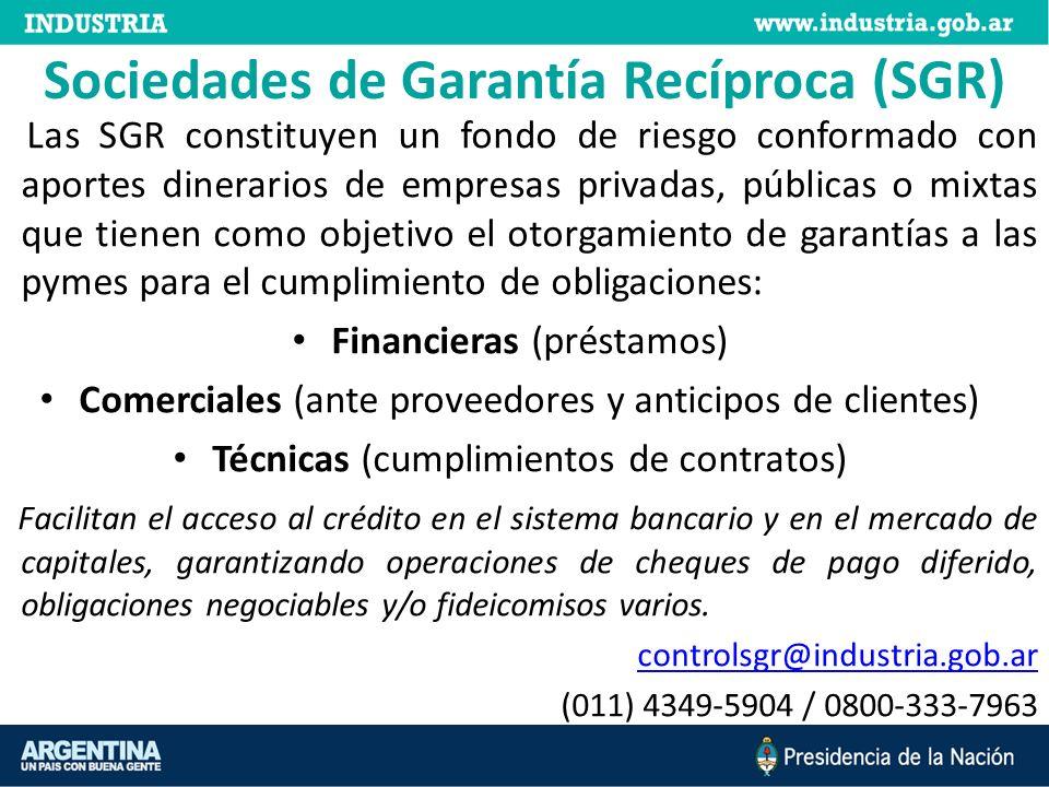 Sociedades de Garantía Recíproca (SGR)