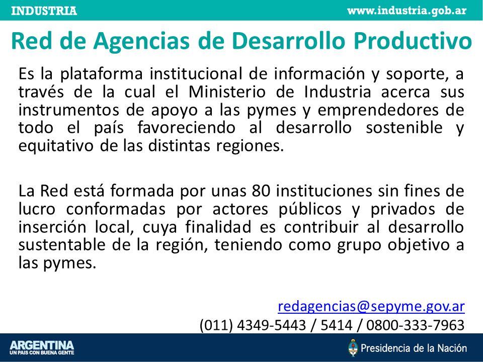 Red de Agencias de Desarrollo Productivo