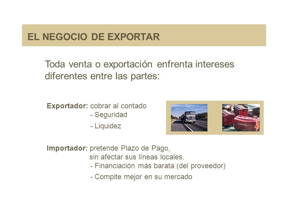 Toda venta o exportación enfrenta intereses