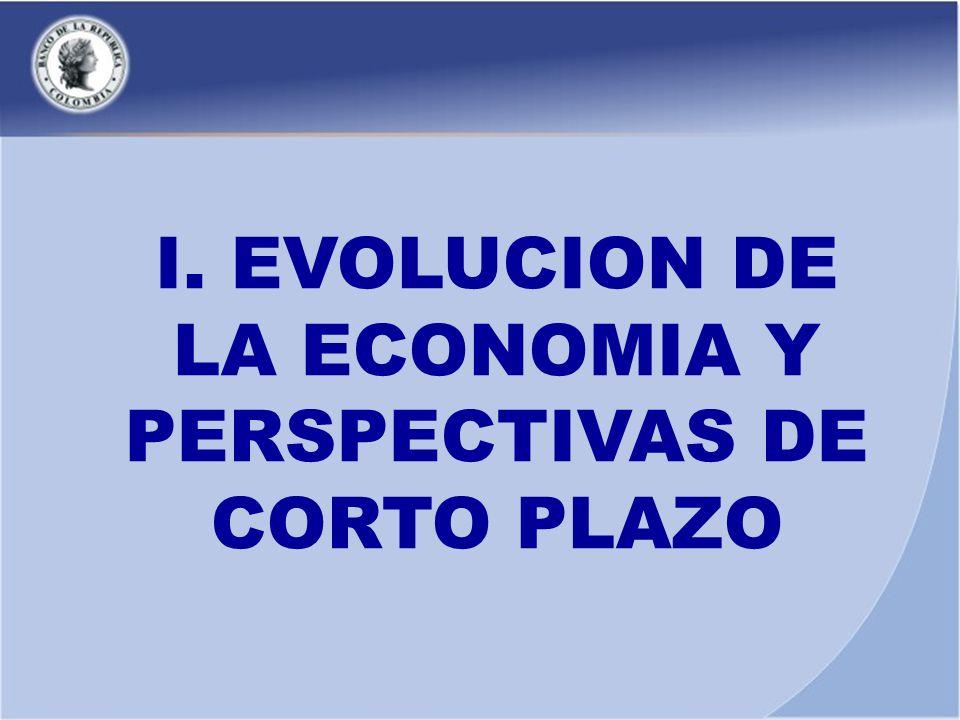 I. EVOLUCION DE LA ECONOMIA Y PERSPECTIVAS DE CORTO PLAZO