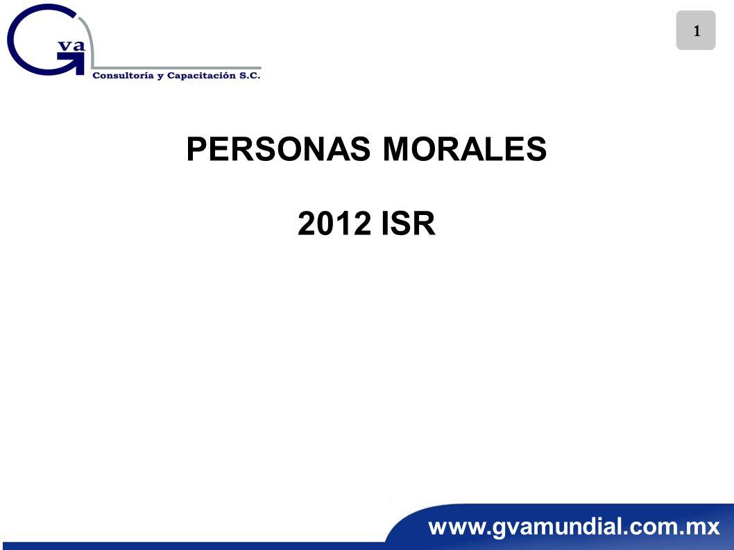 PERSONAS MORALES 2012 ISR