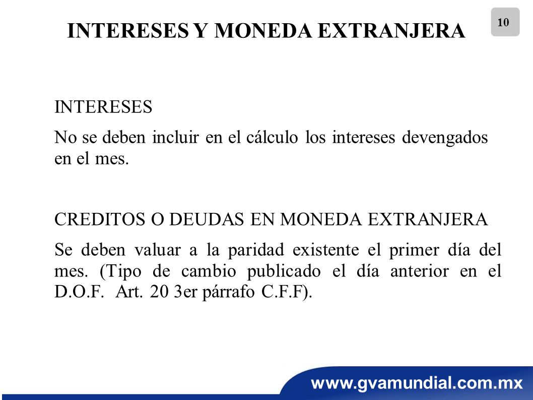 INTERESES Y MONEDA EXTRANJERA
