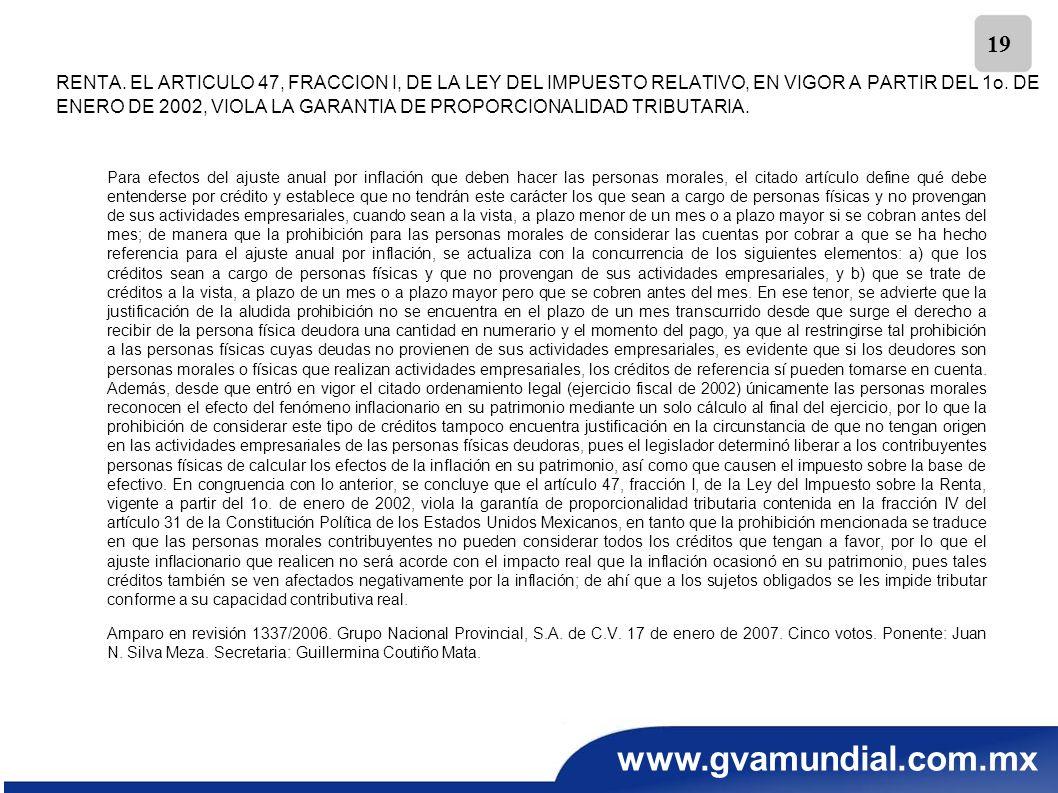 RENTA. EL ARTICULO 47, FRACCION I, DE LA LEY DEL IMPUESTO RELATIVO, EN VIGOR A PARTIR DEL 1o. DE ENERO DE 2002, VIOLA LA GARANTIA DE PROPORCIONALIDAD TRIBUTARIA.