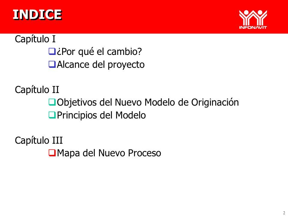 INDICE Capítulo I ¿Por qué el cambio Alcance del proyecto Capítulo II