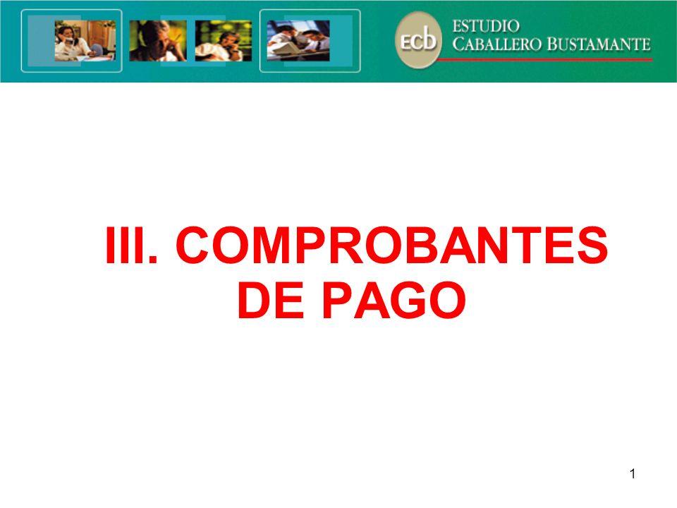 III. COMPROBANTES DE PAGO