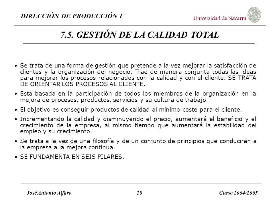 7.5. GESTIÓN DE LA CALIDAD TOTAL