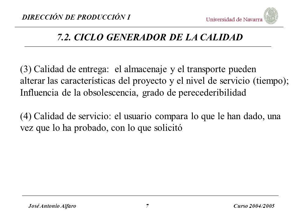 7.2. CICLO GENERADOR DE LA CALIDAD
