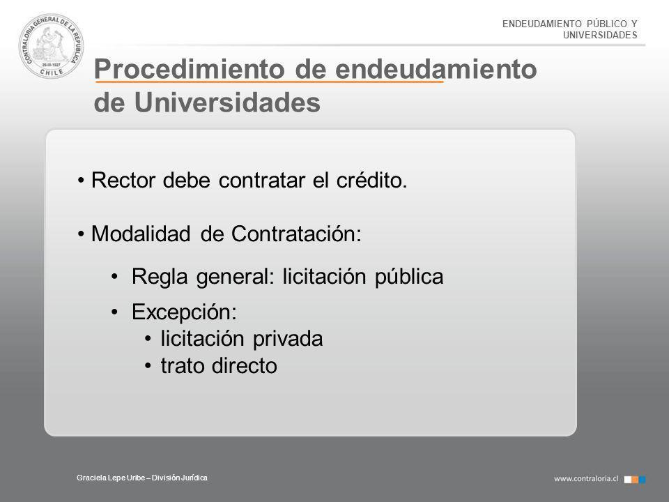 Procedimiento de endeudamiento de Universidades