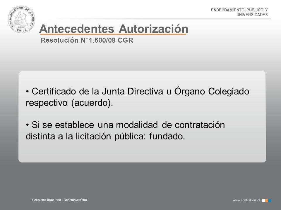 Antecedentes Autorización