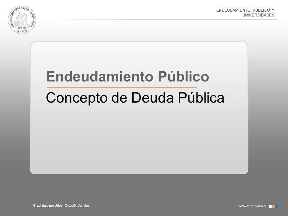 Endeudamiento Público Concepto de Deuda Pública
