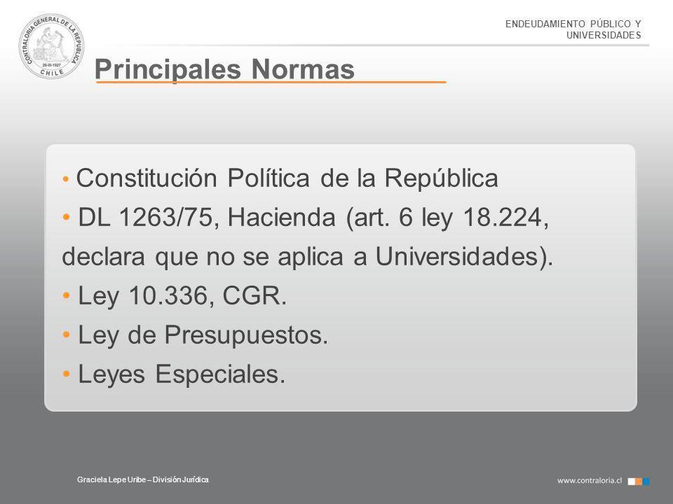 ENDEUDAMIENTO PÚBLICO Y UNIVERSIDADES