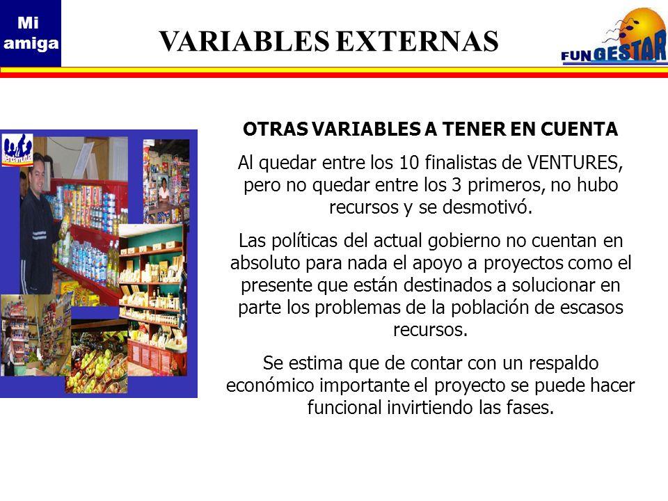 OTRAS VARIABLES A TENER EN CUENTA