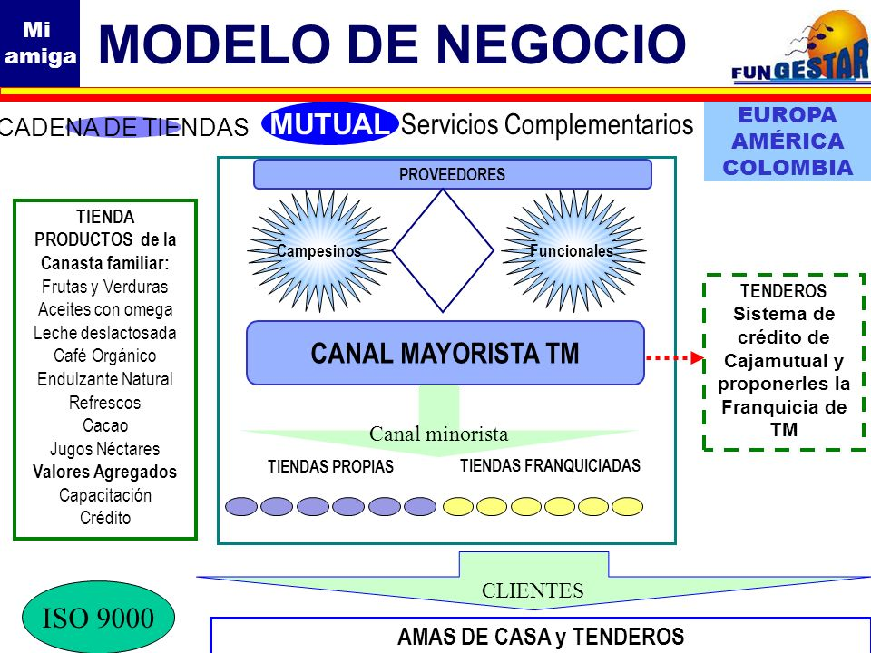 MODELO DE NEGOCIO MUTUAL Servicios Complementarios CANAL MAYORISTA TM