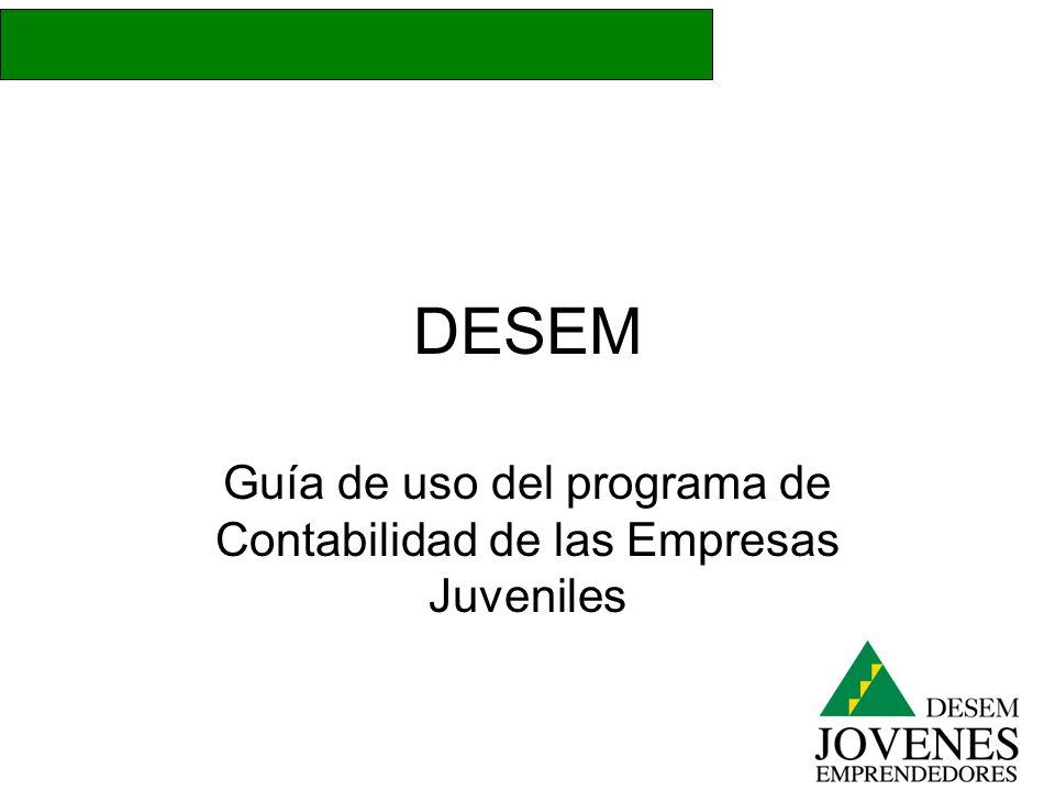 Guía de uso del programa de Contabilidad de las Empresas Juveniles