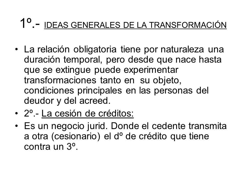 1º.- IDEAS GENERALES DE LA TRANSFORMACIÓN
