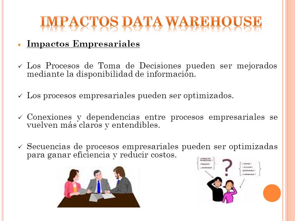 IMPACTOS DATA WAREHOUSE