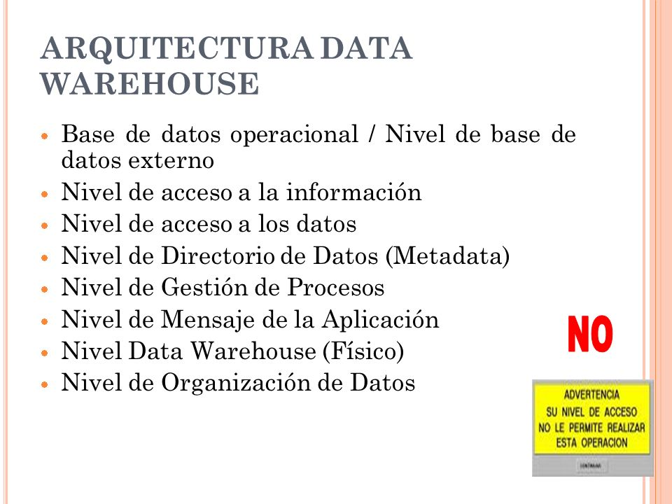 ARQUITECTURA DATA WAREHOUSE