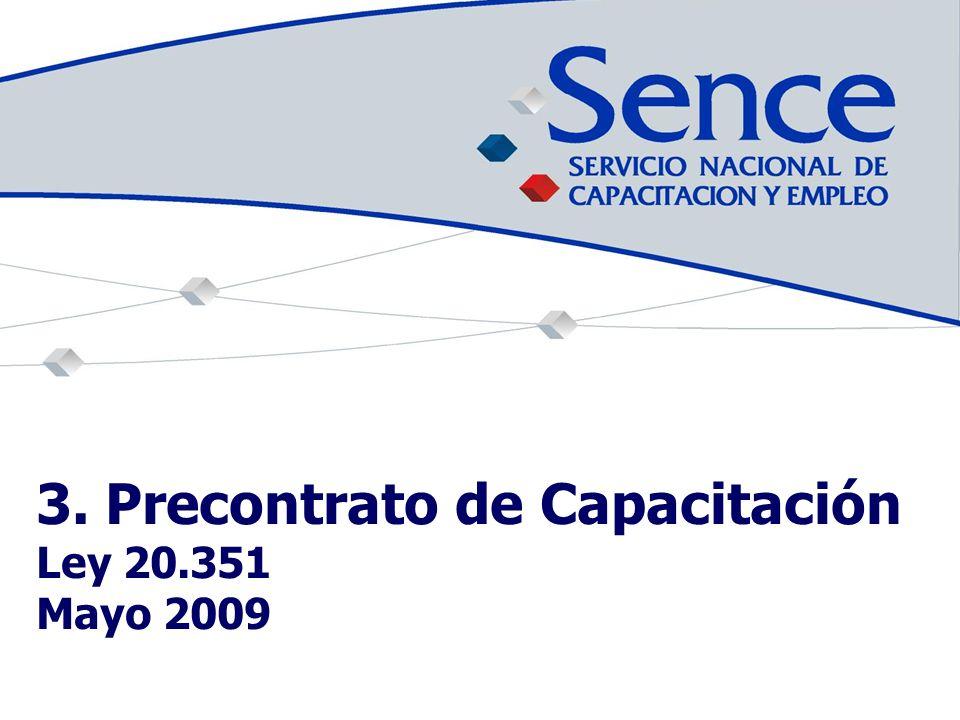 3. Precontrato de Capacitación Ley 20.351 Mayo 2009