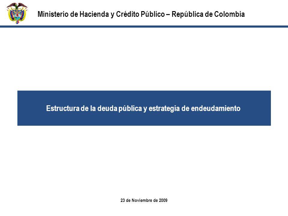 Estructura de la deuda pública y estrategia de endeudamiento