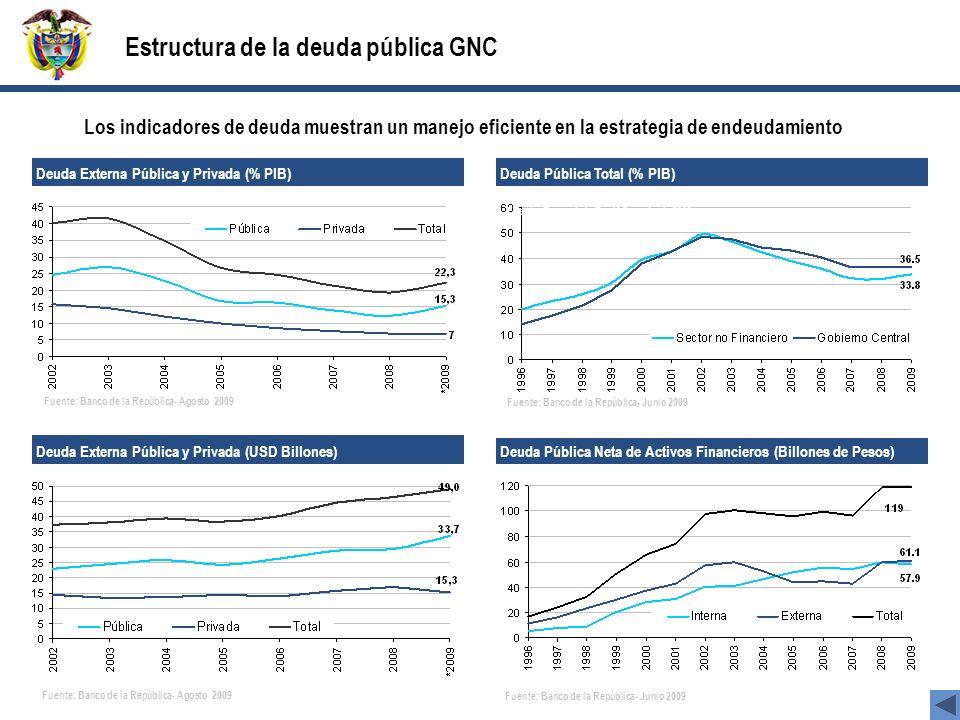 Estructura de la deuda pública GNC