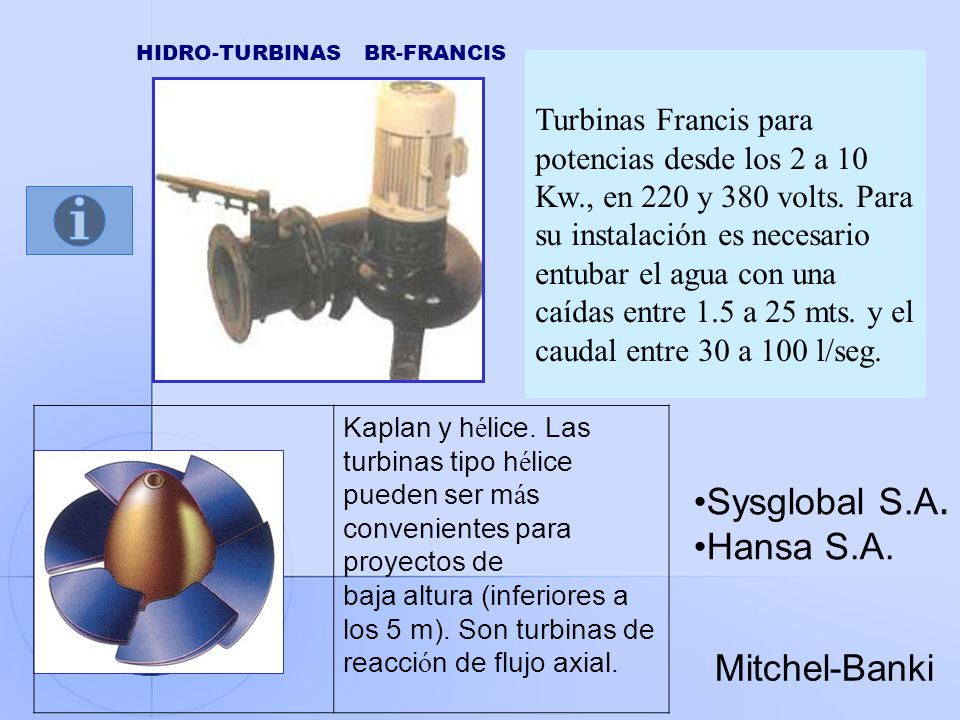 HIDRO-TURBINAS BR-FRANCIS