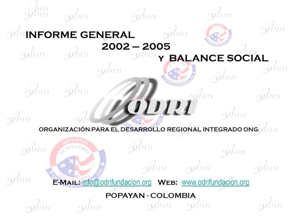 ORGANIZACIÓN PARA EL DESARROLLO REGIONAL INTEGRADO ONG