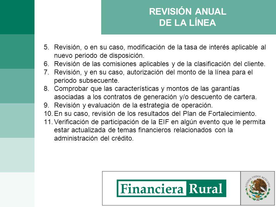 REVISIÓN ANUAL DE LA LÍNEA